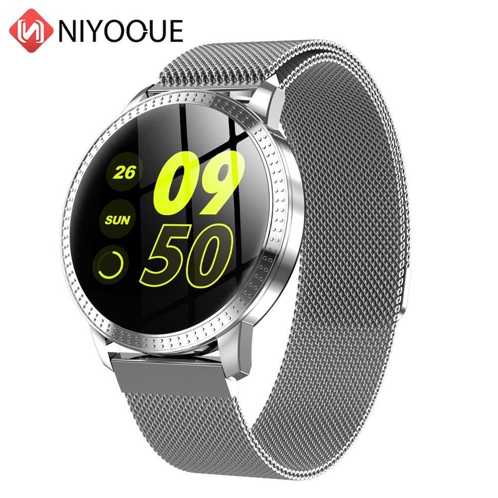 NIYOQUE Intelligente Braccialetto di Vigilanza di Sport di Fitness Tracker Banda Heart Rate di Trasmissione Smartwatch PK K88h DZ09 GT08 Intelligente Wristband