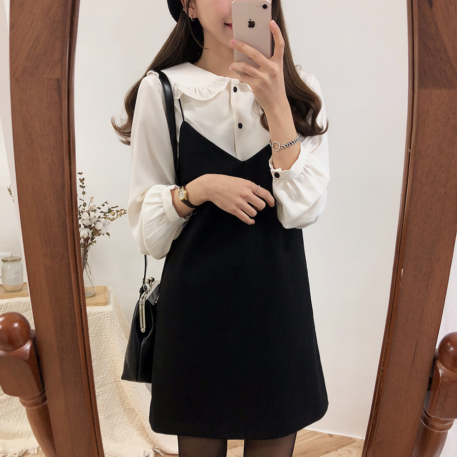 S XL Spring Robe Femme Casual Boho OL Casual Sleeveless Suits  Women Dresses Female Dress Suits V Neck Braces Robe Femme Vestido