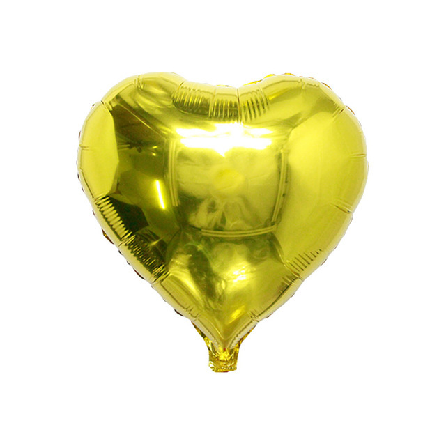 Decorate 18inch 10 pieces heart foil balloon wedding event christmas halloween festival birthday party PD 118 in Ballons Accessories from Home Garden