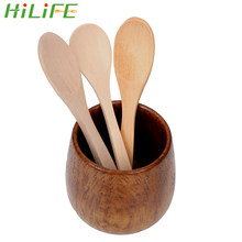 HILIFE Teaspoon Bamboo Coffee Ice Cream Spoons Kitchen Cooking Utensil Tool Mini Wooden Spoon Home Kitchen Accessories Tableware(China)