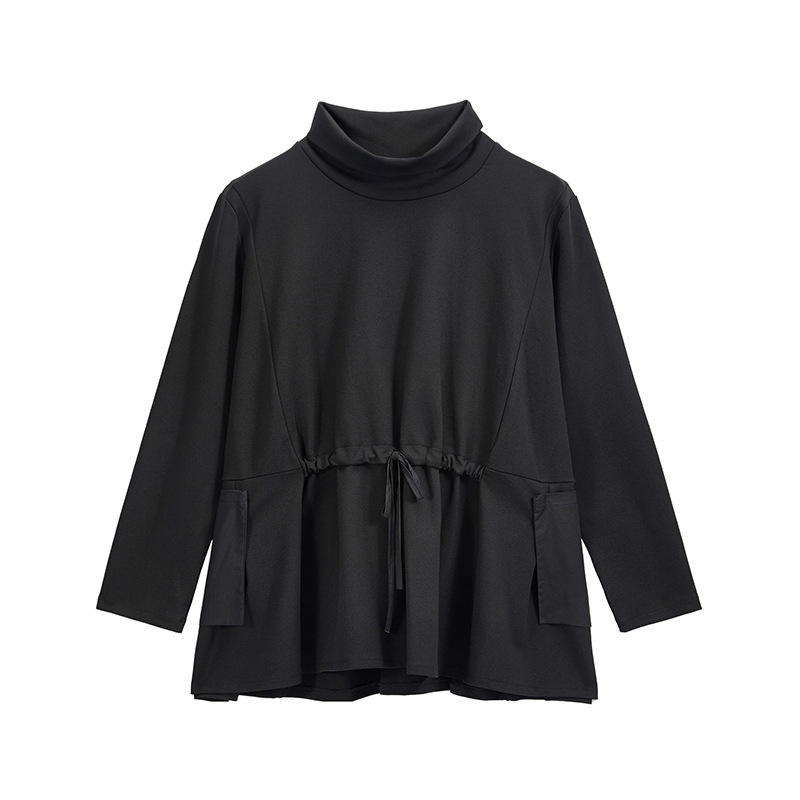 Image 5 - Max LuLu Spring Luxury European Fashion Vintage Ladies Black T  shirt Turtleneck Tops Cotton Casual Womens Long Sleeve Tee  ShirtsT-Shirts