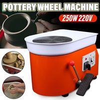 25cm 250W Pottery Wheel Machine Ceramic Work Foot Pedal Ceramic Clay Art Mould AU/US 110/220V Pottery Wheel