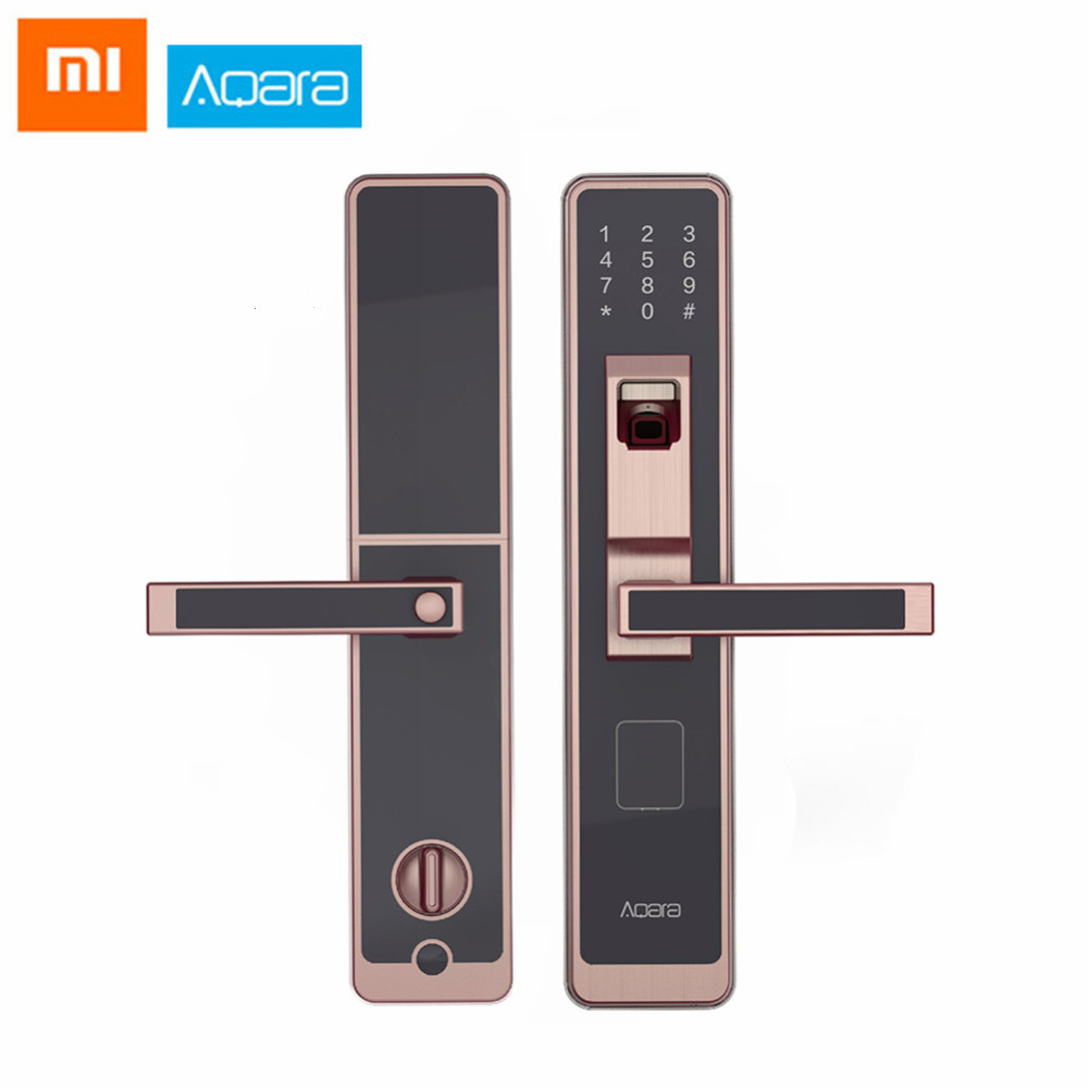 Home Appliance Parts Sensible Original Xiaomi Aqara Smart Door Touch Lock Zigbee Connection For Home Security Anti-peeping Design Support Ios Android