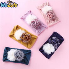 Wecute Infant Toddler Princess Hair Band for Baby Girl Newborn Heanband Super Soft Mesh Stitching Flower Headwear kids Bnad