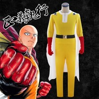 Anime One Punch man Fighting Suit Sensei Saitama Cosplay Costume Outfits for Adult Halloween Party Cloak Clothes