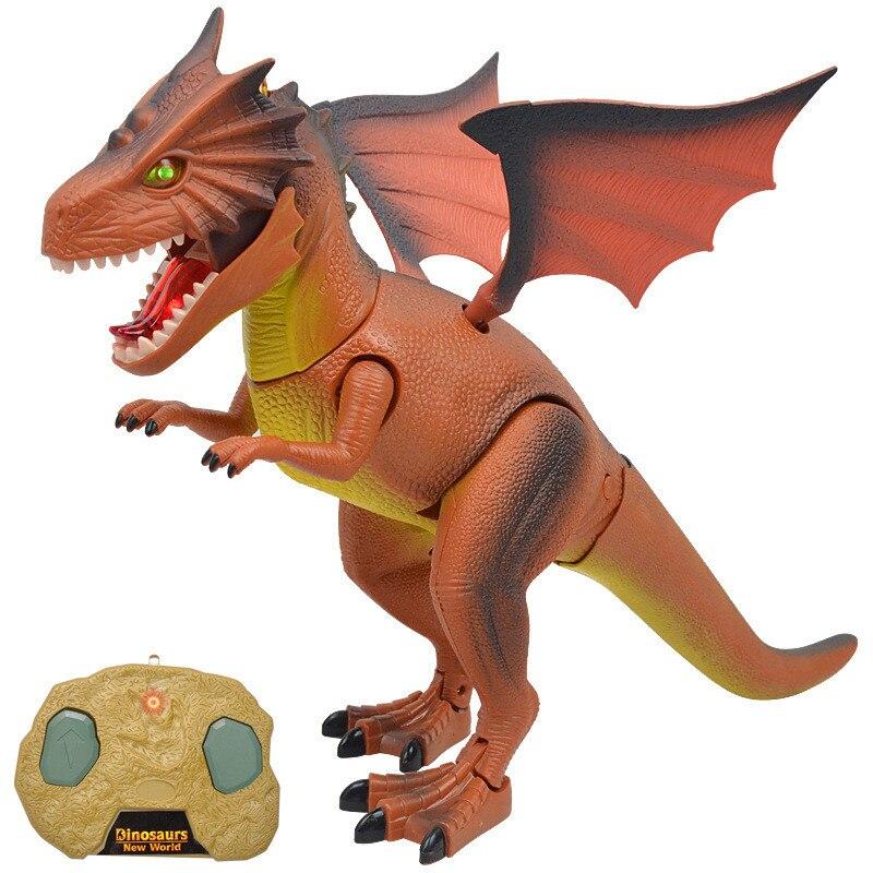 RC Électronique Infrarouge Dinosaure Modèle Jouets Télécommande Dinosaure Dragon de Feu Modèle Sound Light Jouets Cadeaux Jouets Éducatifs