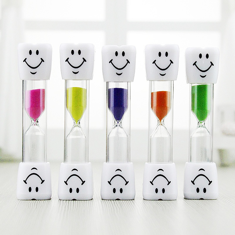 Kids Toothbrush Timer 1PC Sand Clock 2020 New The Hourglass Smiling Face Sand Clock 3 Minutes Household Items Decorative Gifts
