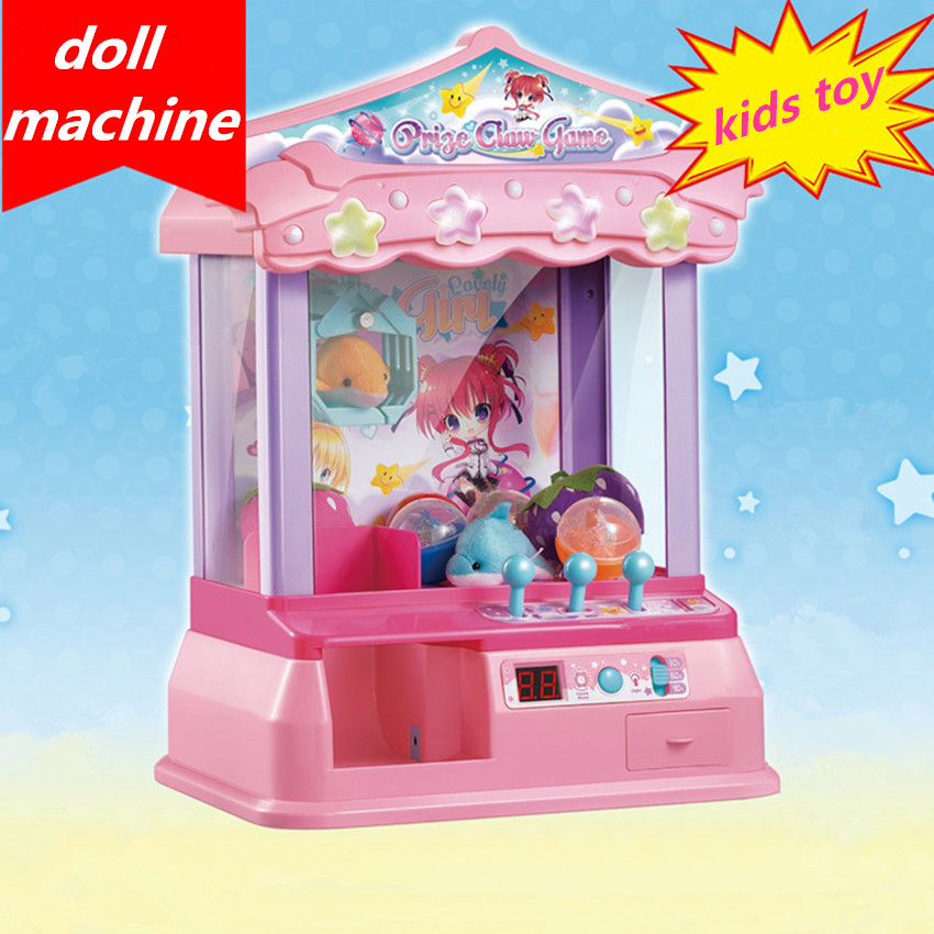Kids Music Candy Grabber Coin Operated Game Mini Doll Machine Gag Toy Toy Grabbing Machine Best Gift For Child стоимость