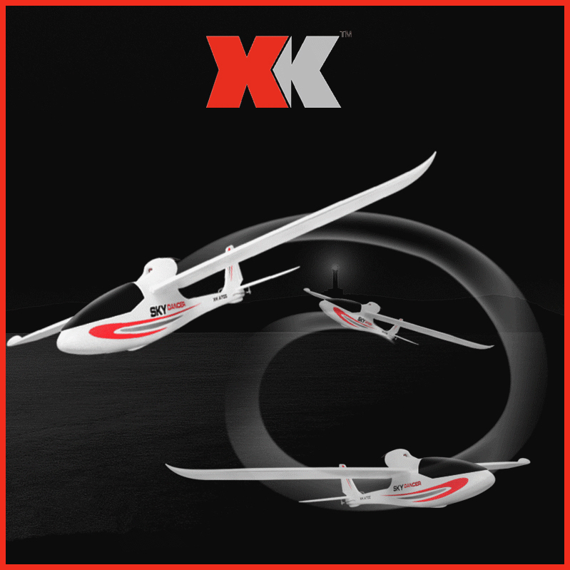 XK A700 Sky Dancer 2.4G 3CH 750mm Wingspan Fixed-wing Compatible with S-FHSS RC Airplane EPO RTF DroneXK A700 Sky Dancer 2.4G 3CH 750mm Wingspan Fixed-wing Compatible with S-FHSS RC Airplane EPO RTF Drone