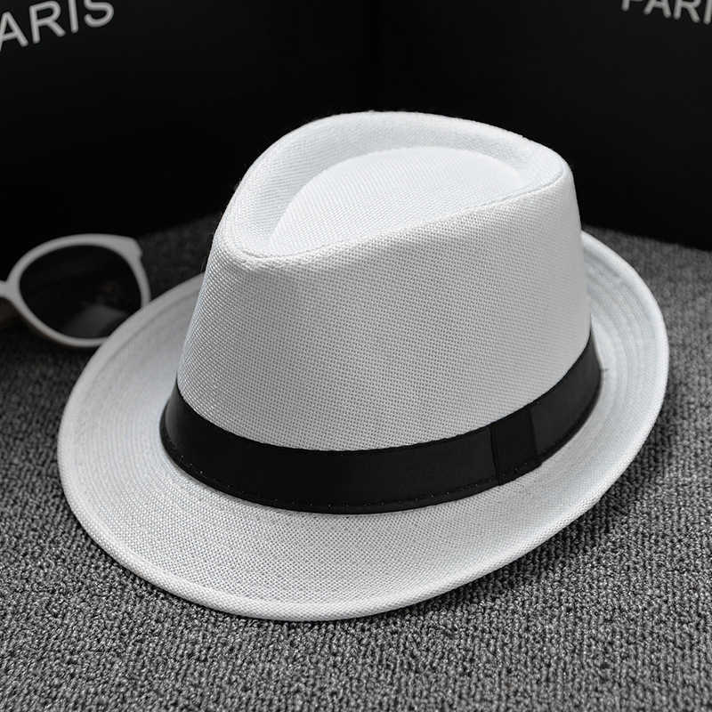 9c394ef7a9eec0 ... Fashion Summer Cool Panama Wide brim Fedora Straw Made Indiana Jones  Style Hat Fedoras