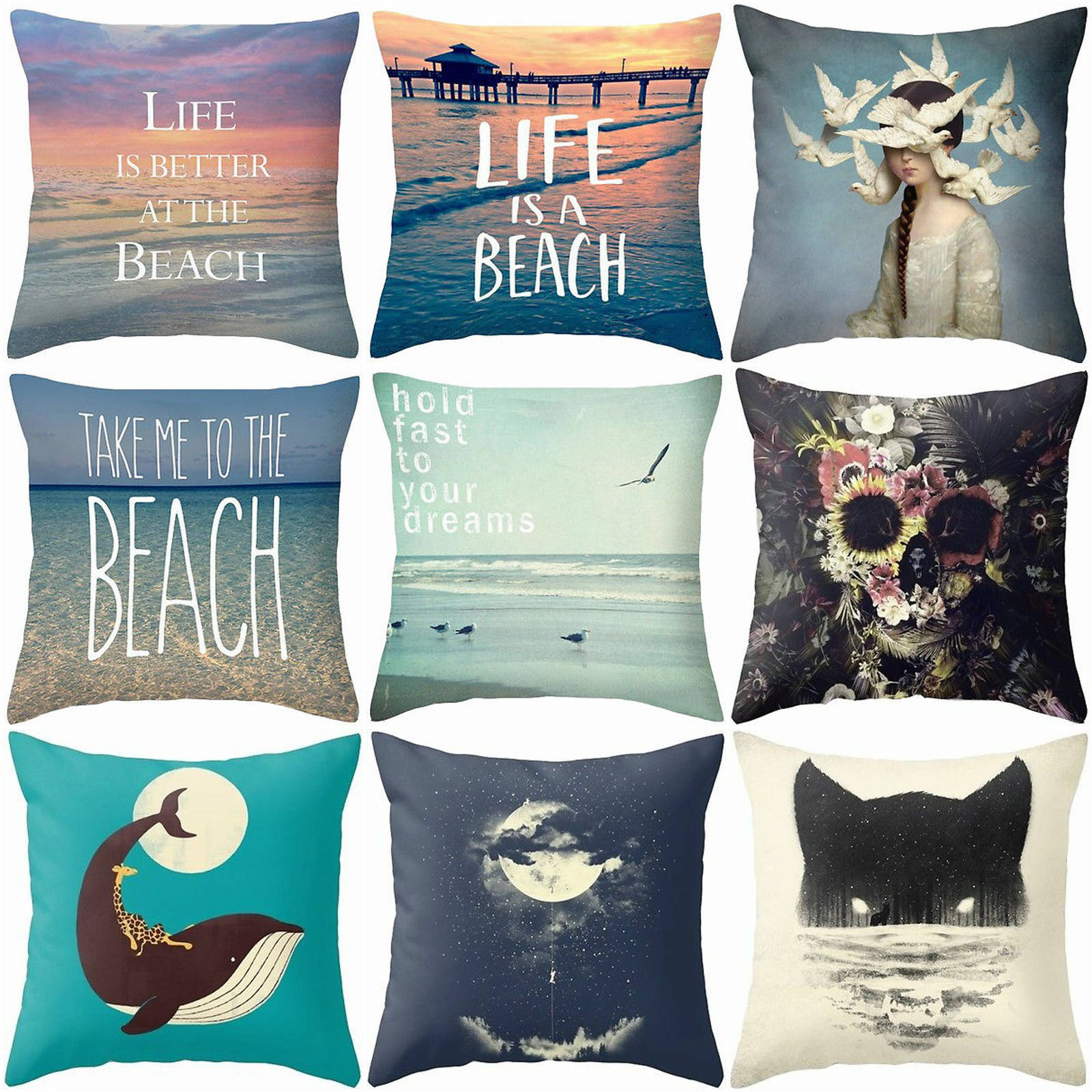 HGLEGYW 18'' Creative Abstract Painting Pillow Case Throw Pillowcase Cotton Linen Printed Pillow Covers Office Home Textile