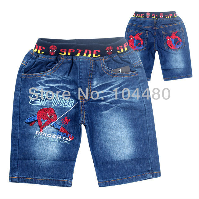 45ce4a3cd635a fashion 2014 spiderman children clothing sets,cartoon baby hoodies jeans  suit,retail boys short sleeve t shirt pants Blue Gray-in Clothing Sets from  ...