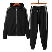 2018 New Autumn Men's Casual Solid Color Zipper Set wild Sports Suit Men Clothing Chandal Hombre Survetement Homme M