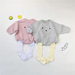 Детский комбинезон с капюшоном для малышей, комбинезон для девочек и мальчиков, милая одежда с кроличьими ушками и хвостом для детей 0-24