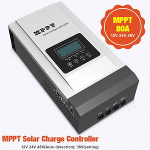 Image 1 - MPPT Solar Controller 80A 12V/24V/48V Solar Charger Battery 36V setting Charger Max 150VDC Back light LCD Solar Regulator