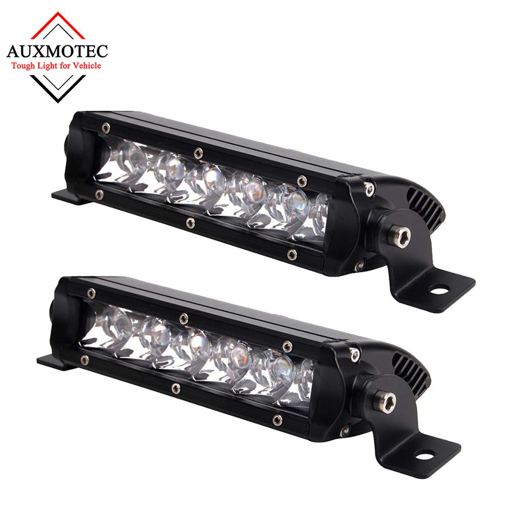 2pcs 30W Led Light Bar Work Driving Offroad 7 inch Spotlight 12v for Pickup Truck Tractor