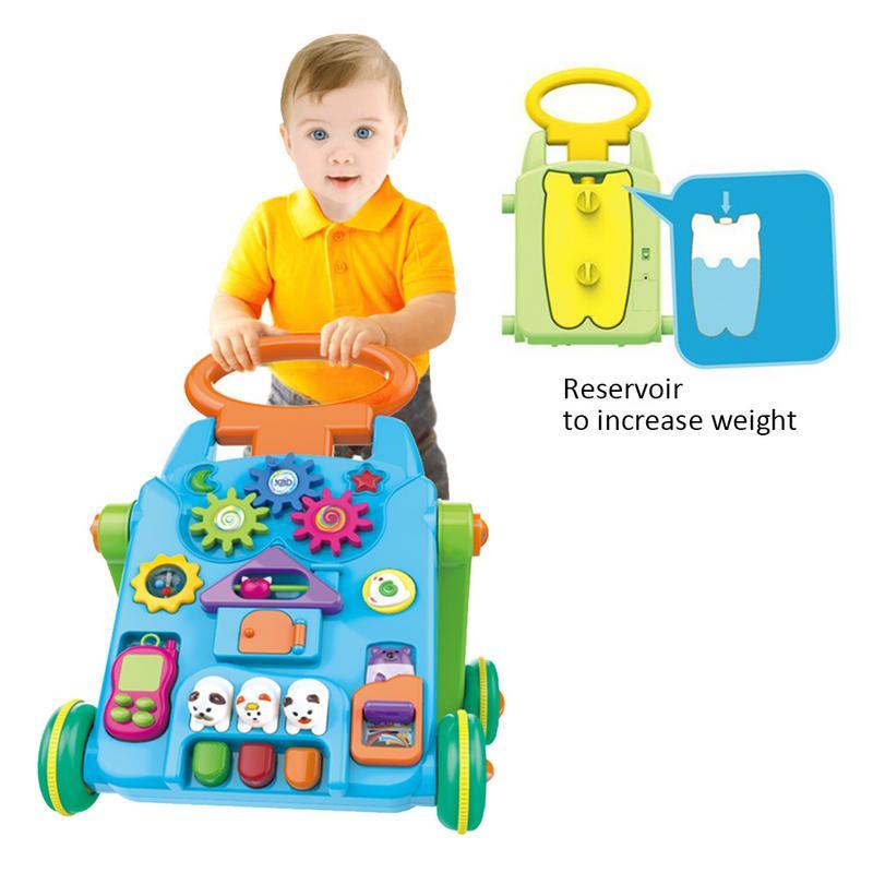 Del Bambino Del Camminatore Musicale Del Bambino Trolley Sit-a-stand Camminatore Per Bambini Di Apprendimento Precoce Educativo Del Bambino Primi Passi Auto Regolabile Hot