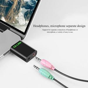 Image 5 - USB Adapter External Sound Card Interface Headphones Microphone Clear No Noise Transmit High Fidelity Music Devices For Notebook
