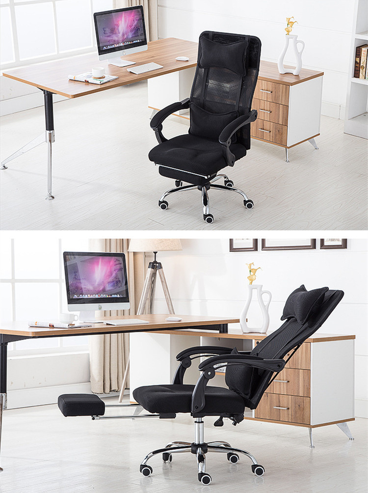 Купить с кэшбэком High Quality Ergonomic Executive Office Chair Computer Chair Lying Footrest Meshi Swivel Mesh Backrest Cushion sedie ufficio