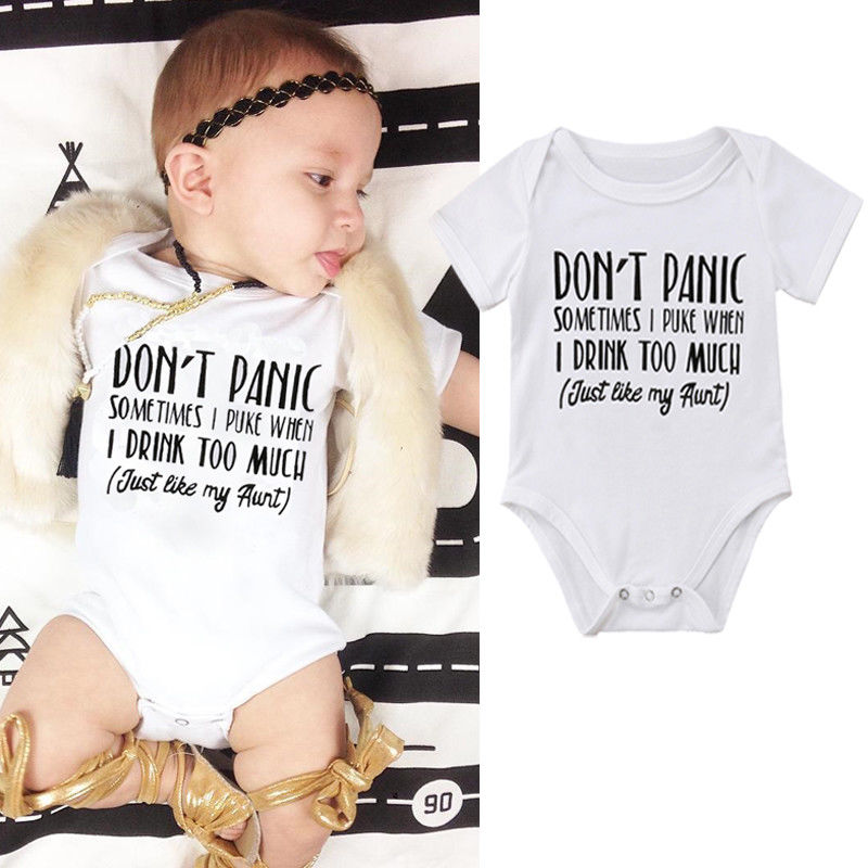 Pudcoco Babys Jumpsuits 3M-18M Newborn Kids Baby Boy Girl   Romper   Letter Print Babygrow Clothes Outfit