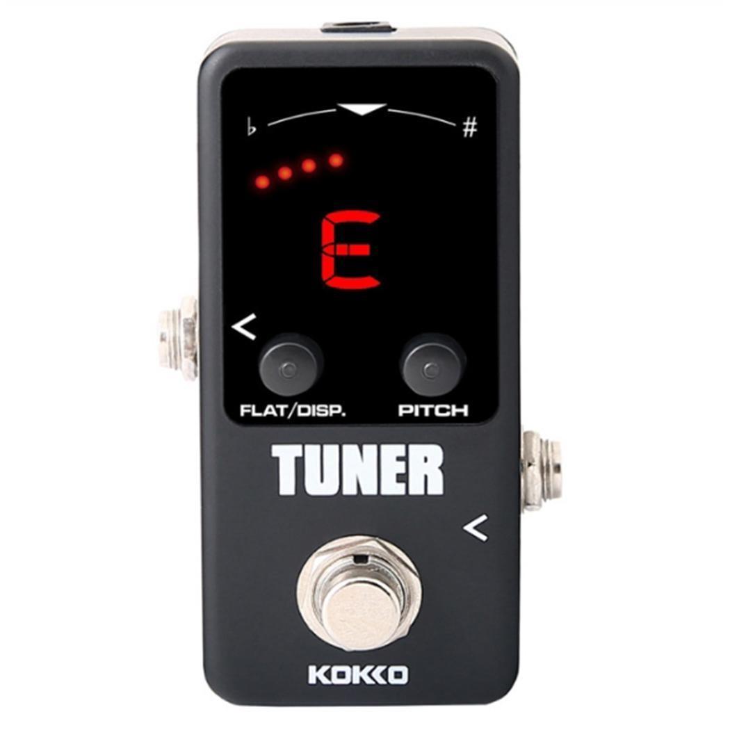 Accordeur KOKKO accordeur à pédale de guitare électrique pour guitare basse adaptateur DC accordeurs de violon +-1 cent Ukelele LED carré