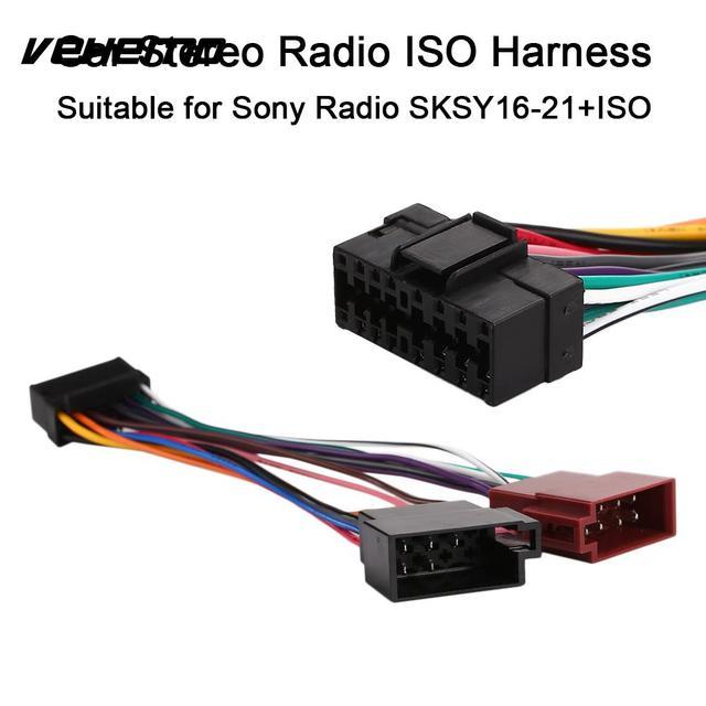 Sksy16-21+Iso 16Pin Radio Player Harness Connector Durable Car Iso Wire Harness Plug Radio Harness Adaptor for Sony Radio