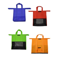 4PCS/Set Shopping Cart Foldable Reusable Grocery Shopping Bag Eco Supermarket Bag Easy to Use and Heavy Duty Bags