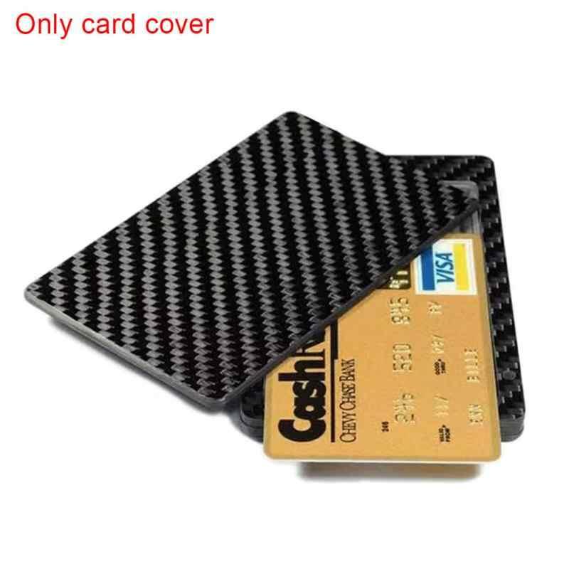 1PC Sliding Fan Carbon Fiber Wallet Cash Card Holder Business Wallet Credit  Card Protector Case Pocket Purse Fireproof