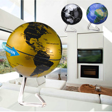 Battery Powered Automatic Rotate World Globe terreste Map Earth Tellurion Home Decoration School Geography Education Supplies