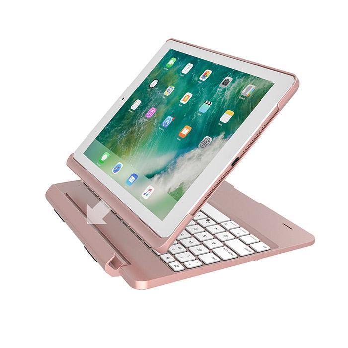 9.7 pouces iPad Split Type coloré rétro-éclairé Bluetooth clavier étui de protection