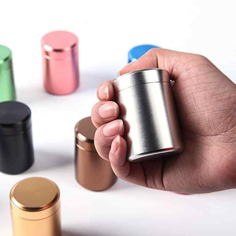 AUGKUN 1 ピース 80 ミリリットルミニ収納ボックスブリキ金属無地オーガナイザーポータブルヴィンテージ茶筒コーヒー粉末缶