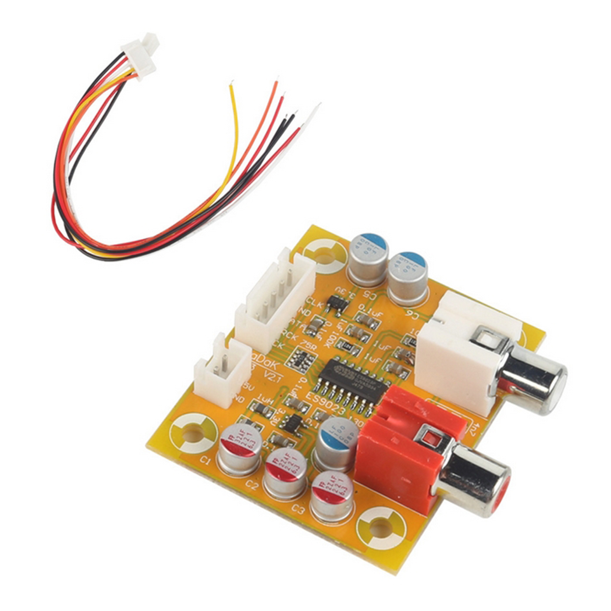 DAC Sabre ES9023 Analogico I2S 24 Bit 192 KHz Modulo scheda di Decodifica Per Raspberry PiDAC Sabre ES9023 Analogico I2S 24 Bit 192 KHz Modulo scheda di Decodifica Per Raspberry Pi
