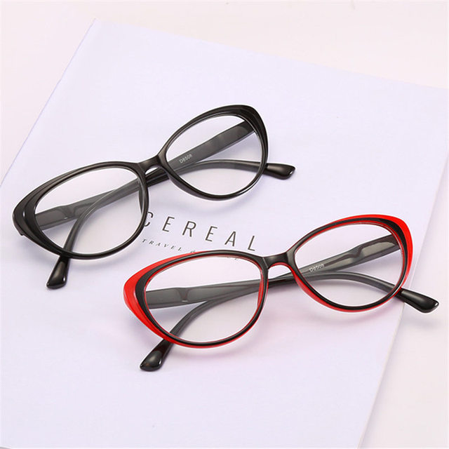 Retro Full Frame Cat Eye Reading Glasses Women Men Clear Lens Presbyopic Prescription Glasses with Diopter Eyewear Frame Unisex