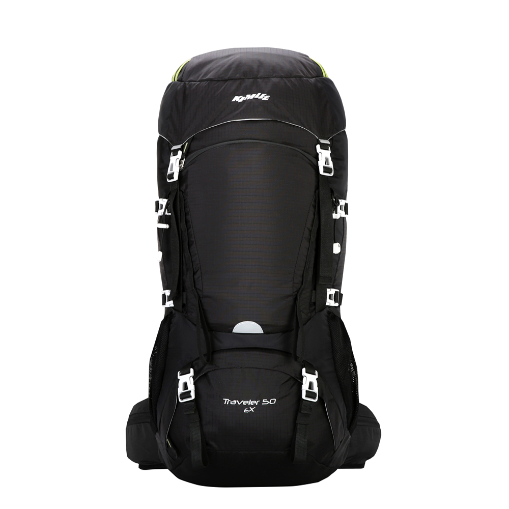Kimlee sac à dos de Camping confortable pour la randonnée escalade voyage ski imperméable avec housse de pluie sac extérieur 50L