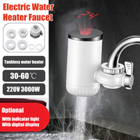 220V 3000W 30 60C Electric Water Heater Faucet Instant Hot Water Faucet Heater Tap With Indicator Light/LCD Display