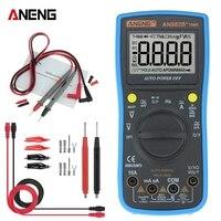 ANENG AN882B + Multimetro Digitale 6000 Conta Vero RMS Data Hold AC/DC Tensione e Corrente di Prova di Misurazione della Temperatura metro-in Multimetri da Attrezzi su