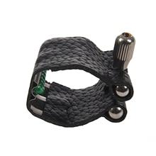 цена на FSTE-Leather Mark Nozzle Lock Ligature with Straightener for Alto Tenor Standard Saxophone