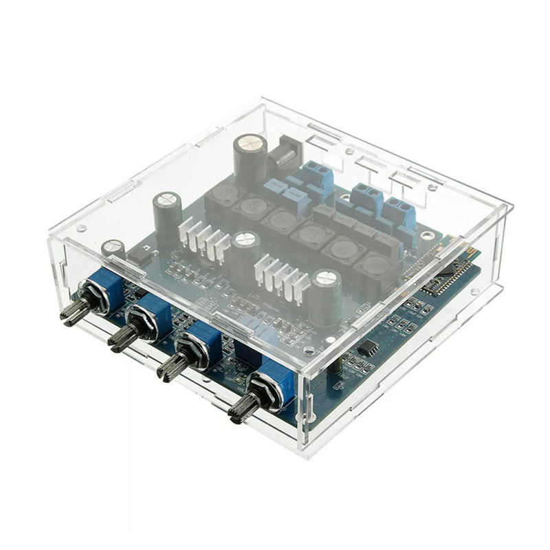 Tpa3116 <font><b>2.1</b></font> 50Wx2+100W <font><b>Bluetooth</b></font> Csr4.0 Class D Power Amplifier With Acrylic Case image