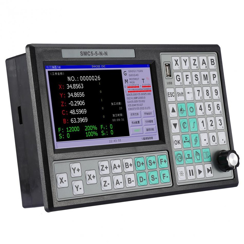 CNC 5 axis Offline Controller 500KHZ Motion Controller 7 Inch Large Screen Replace Mach 3 USB