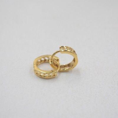Pure Au750 18K Yellow Gold Women Hollow Figure Hoop Earrings 1-1.5g 10x2.8mmPure Au750 18K Yellow Gold Women Hollow Figure Hoop Earrings 1-1.5g 10x2.8mm