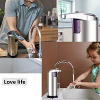 Shampoo not Box Automatic Dispenser Home Dispenser Batteries Motion Steel Touchless Soap included Stainless Unisex