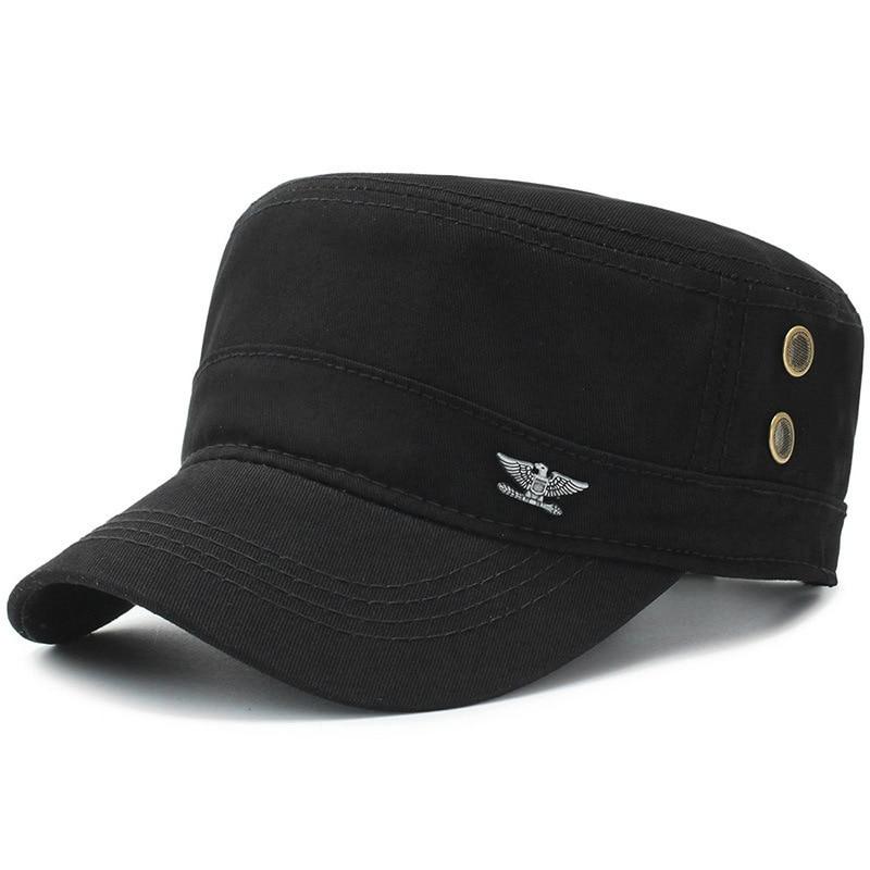 Militärhüte Kopfbedeckungen Für Herren Vorsichtig Beckyruiwu Mann Sommer Im Freien Militär Kappen Baumwolle Casual Flache Hüte Frauen Einfarbig Armee Hut 4 Farben