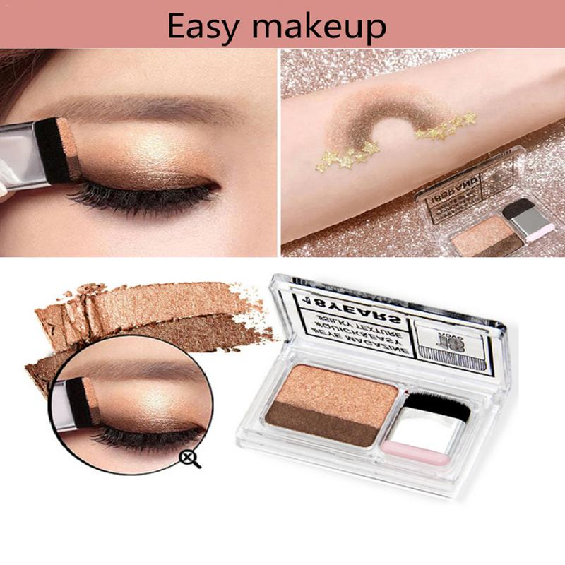 Straightforward Eye Shadow Seal Eye Shadow Two-color Gradient Matte Shining Lasting Cosmetics Make-up Color Eyeshadow Box Beauty Products Elegant Shape Beauty Essentials