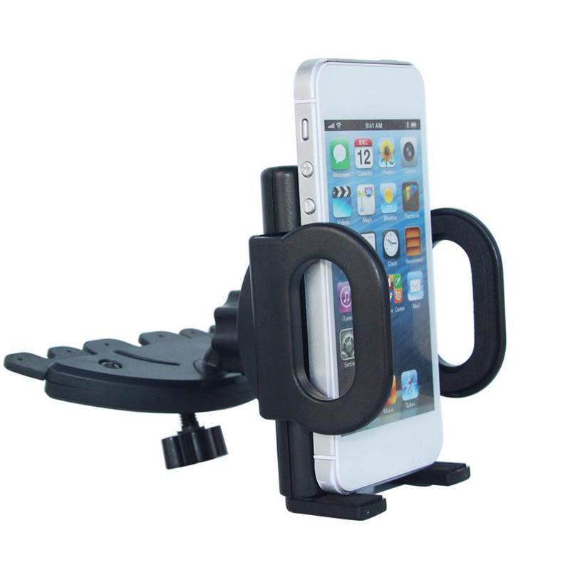 Car Phone Holder CD Port Navigation Stand Cradle 360 Degree Support Mobile Air Vent Mount Car Holder Phone Stand In Car