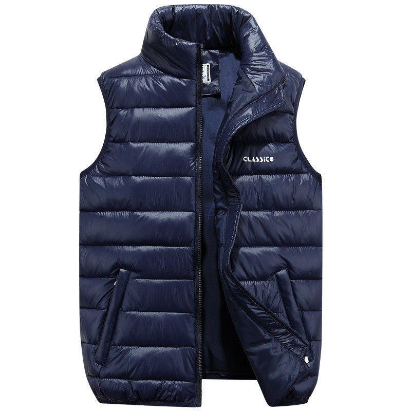 Duck Down Men Vest Ultra Light Man Loose Waistcoat Vest Sleeveless Jacket Autumn Winter Warm Men Outwear
