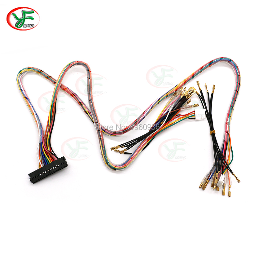 10 pcs Arcade console wire harness family version game board cable for SANWA joystick push button