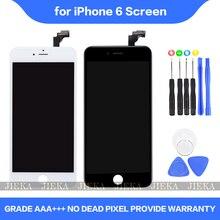Lcd 4.7 polegadas aaa + para iphone 6, display touch screen digitalizador peça para iphone 6 6g a1549 a1586 tela lcd a1589, substituição