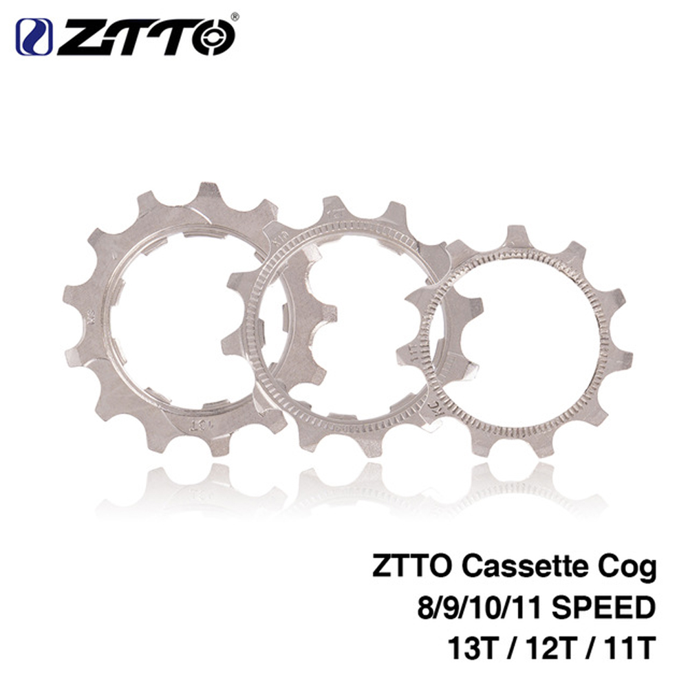 ZTTO 1 PCS MTB Road Bike Freewheel Cog 8 9 10 11 Speed 11T 12T 13T Bicycle Cassette Sprockets Accessories For Shimano