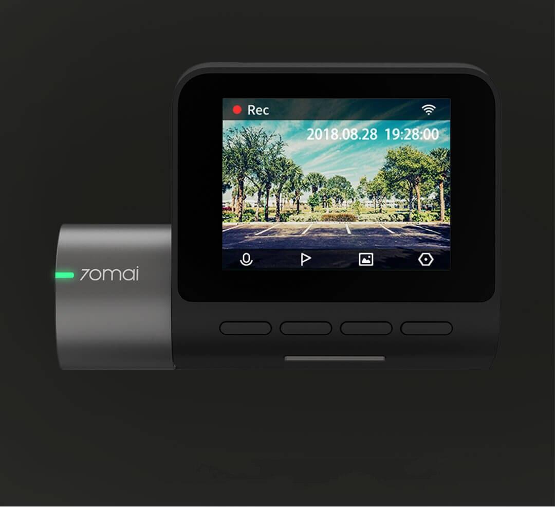 Xiaomi 70mai Pro Dash Cam Wifi Voiture caméra dvr 1944 P HD vision nocturne G-capteur 24 H moniteur de stationnement 140 Large angle Anglais Russe