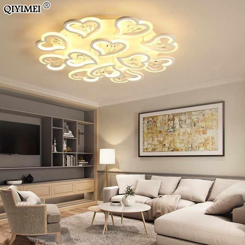 Дизайн с сердечком светодиодный люстры лампа с плафоном освещения для гостиной коридор номер luminaria светодиодный домашние светильники